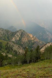 Rainbow over Big Cottonwood Canyon