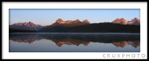 Redfish Lake in the Sawtooths, ID.  Copyright Nate Young and CruxPhoto